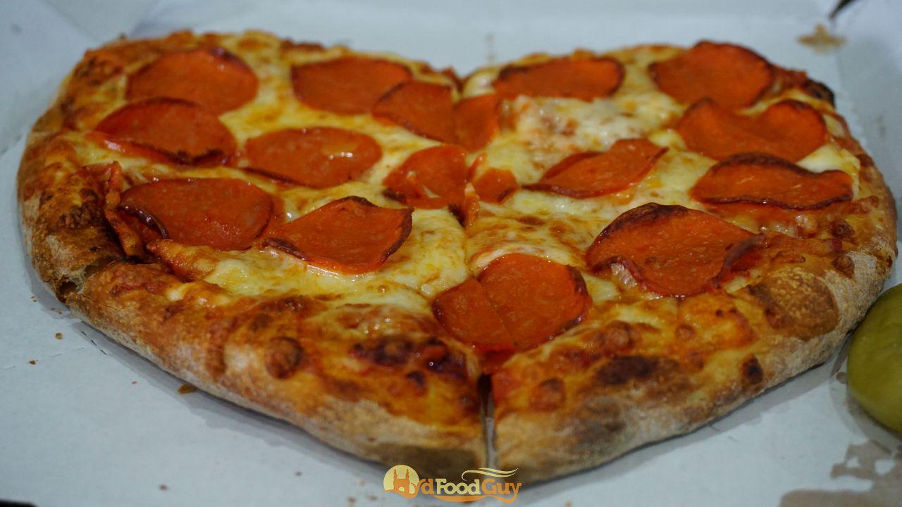 Papa Johns - Heart shaped Pepperoni Pizza